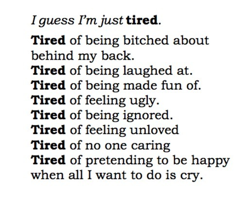 not-such-a-good-girl:  Tired of my whole life…
