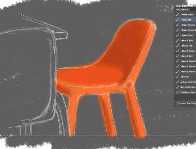 Orange #1 - Americano at Chimera and bright orange chairs