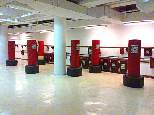 Kickboxing I found a flash sale deal for a month of unlimited kickboxing at this well-known mixed martial arts gym.  After hearing unfortunate news reports about women getting raped abroad, I've been feeling a little apprehensive about traveling alone again.  Actually, thinking about a trip alone to Asia this summer too.  As a woman, I need to be able to protect myself.  What better way then to learn martial arts.  I have a few friends that practice.  They are incredibly disciplined, focused and of course, very physically strong.  I've only been going for a few weeks now, but I feel stronger and more confident already.  My physical strength needs to catch up with my emotional and mental strength.  Although I'm in no position to successfully defend myself against an attacker right now, I'm determined to get there.