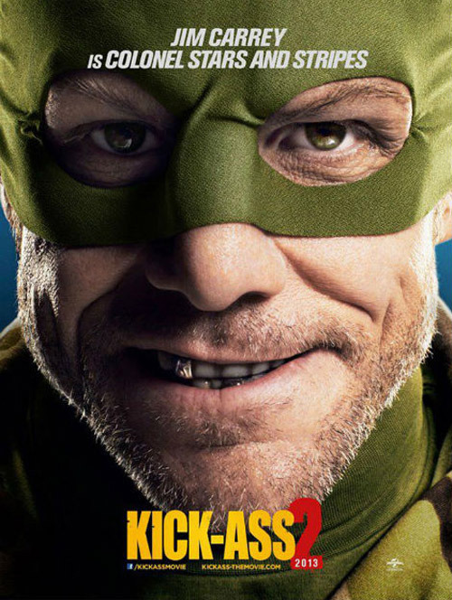 Two new character posters for Kick-Ass 2 Kick-Ass 2 has released a pair of new character posters focusing on Chloë Grace Moretz and Jim Carrey as Hit-Girl and Colonel Stars and Stripes respectively…