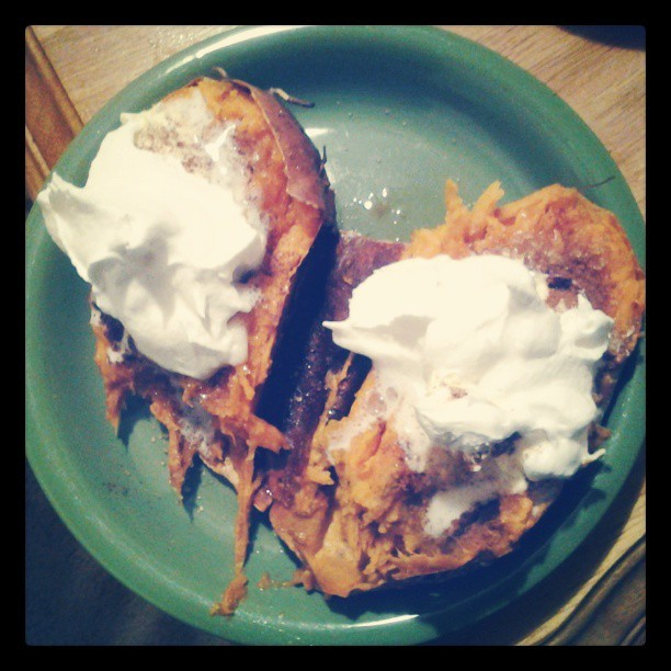 Sweet potato desert. This is so not good for me.