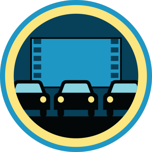 lifescouts:  Lifescouts: Drive-In Movie Badge If you have this badge, reblog it and share your story! Look through the notes to read other people's stories. Click here to buy this badge physically (ships worldwide). Lifescouts is a badge-collecting community of people who share real-world experiences online.  Rachel and I once went on this amazing date to the drive in. Saw a double feature- Spider man and Ted. We had bought Qudoba for food, had a 2 liter of cream soda, a jug of wine, some weed, and cold stone. It was a really good night ;)