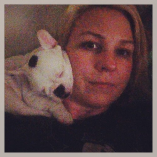 This dog. Seriously. He climbs onto my shoulder to sleep #frenchbulldog