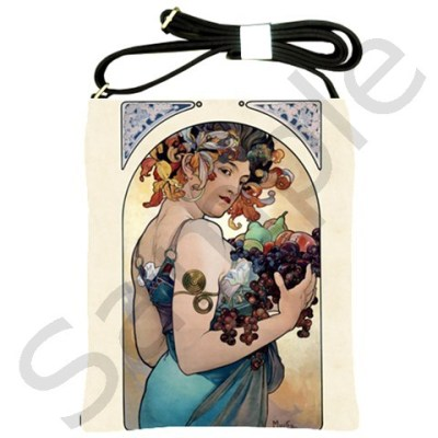 mandamacabre:  (via Alfons Mucha Fruit Shoulder Sling Bag from Manda's Macabre)