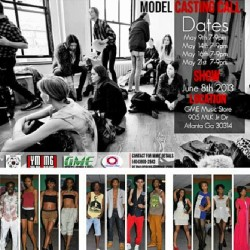 Don't miss your chance to be apart of my clients next big fashion show….. Hosted by Celebrity host. #Castingcall dates are posted. Location 905 mlk Atlanta GA.