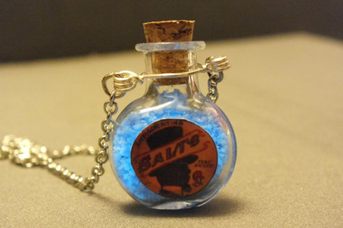 Etsy thing of the day: Bioshock inspired invigorating salts necklace Made by geekoutlet