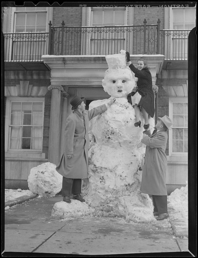 Making snowmen by Boston Public Library on Flickr.