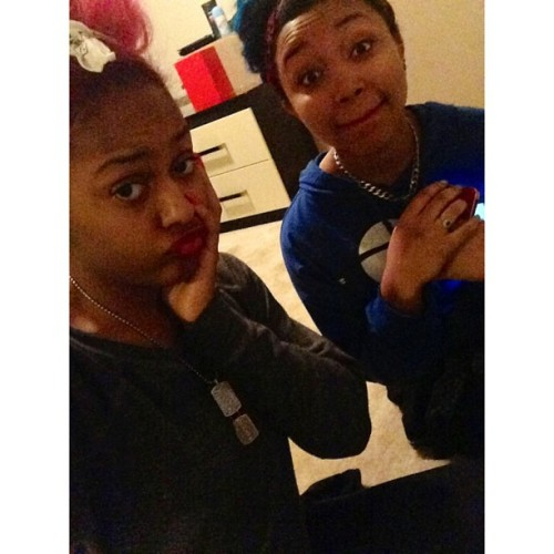 omg-girlz-world:  we was looking crazy but me and my girl😘 these new folks come and go but we together forever👌😂 #buhhleedat - @pinkyinthebrain- #webstagram