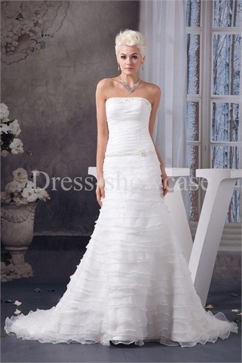 A-Line Natural Strapless Church Court Train Wedding Dress http://www.Dress-ShowCase.com/A-Line-Natural-Strapless-Church-Court-Train-Wedding-Dress-p20966.htmlView Post