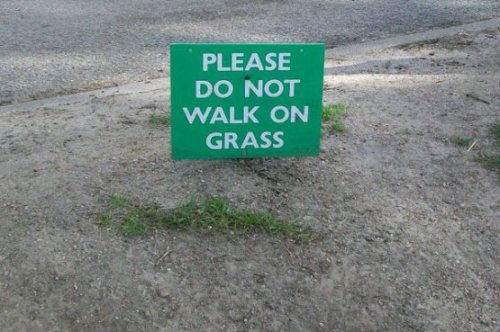 uPick FAIL - What grass? You got it, boss.