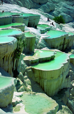 natural rock pools Pamukkale Turkey