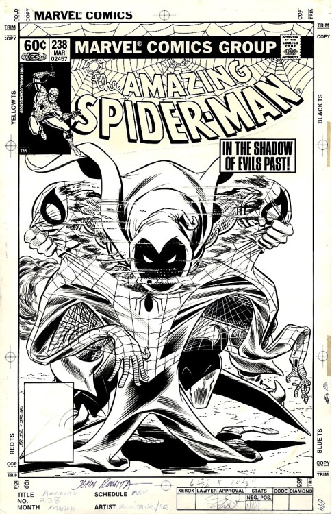 The cover to AMAZING SPIDER-MAN #238 by John Romita Jr and John Romita.