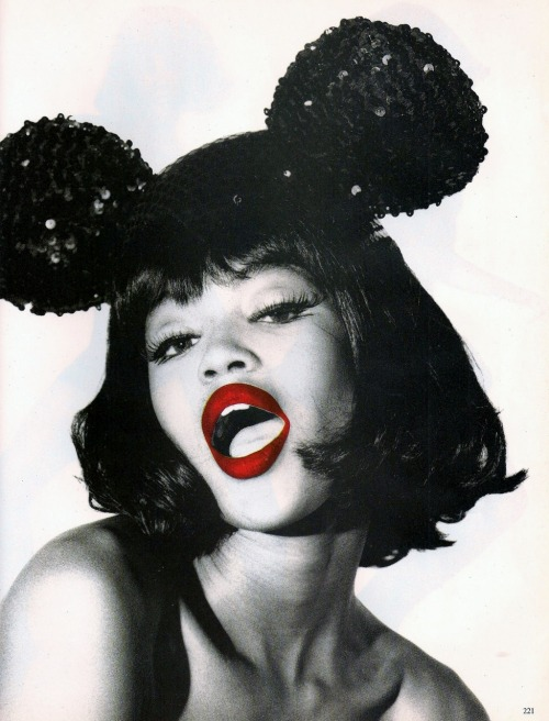 "Naomi Campbell in ""Minni Me"" photographed by Ellen von Unwerth for Vogue Italia, April 1990"