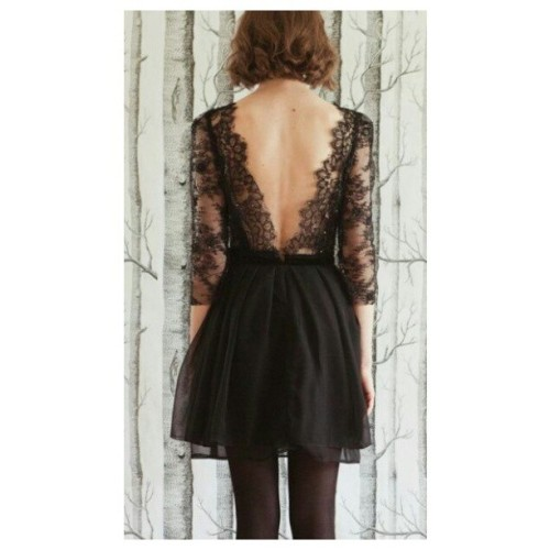 #bare #back #fashion #style #black #dress #chic #elegant #sexy #pretty #love #lace #outfit #want