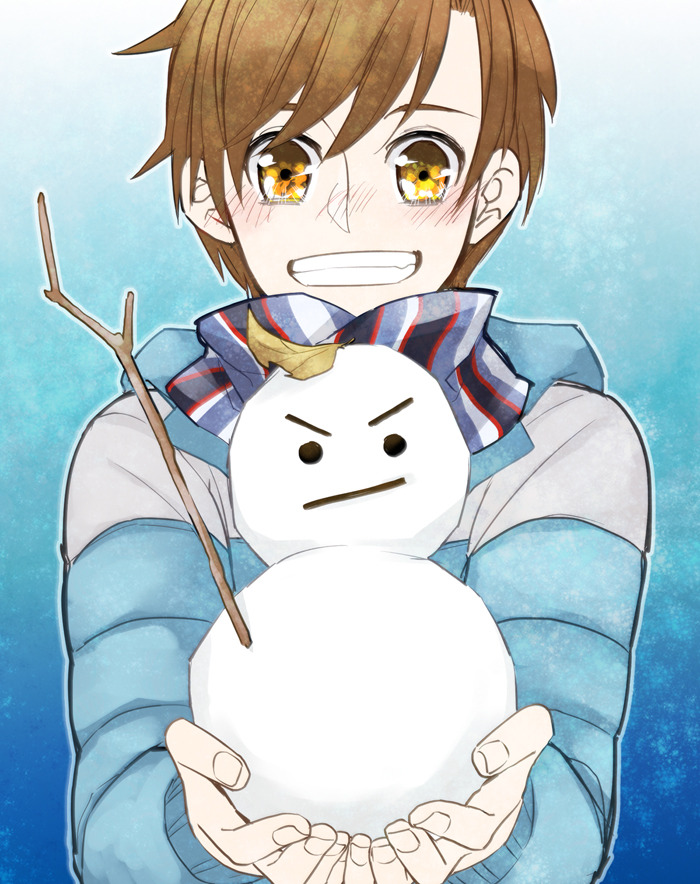 less39:  Jamie with snowman!Jack