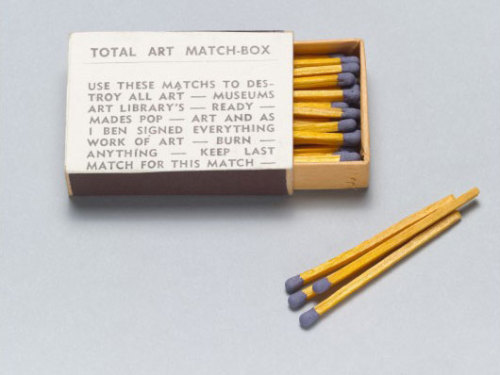 phytos:  Ben Vautier - Total Art Matchbox, 1968