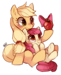 mlpfim-fanart:  Apples by *suikuzu
