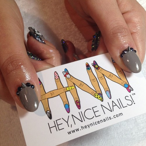 Had a fun day double teaming Sasha from #TheHolyNail #nailart #nails #NiceNailsForNicePeople #LBC (at Hey, Nice Nails!)