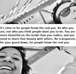 it's time to let people see your inner beauty.