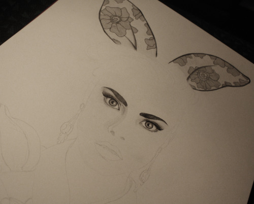 Something new in progress… Cara Delevingne with rabbit ears :)
