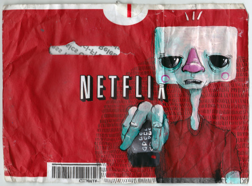 courtney-white:  A little Netflix envelope doodle for Doodlers Anonymous.
