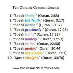 islamographic:  How to Speak in Islam…