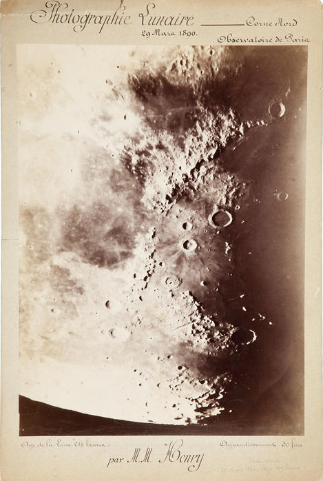 For Sale:  The Moon at 215 hours, from the Paris Observatory, March 29, 1890