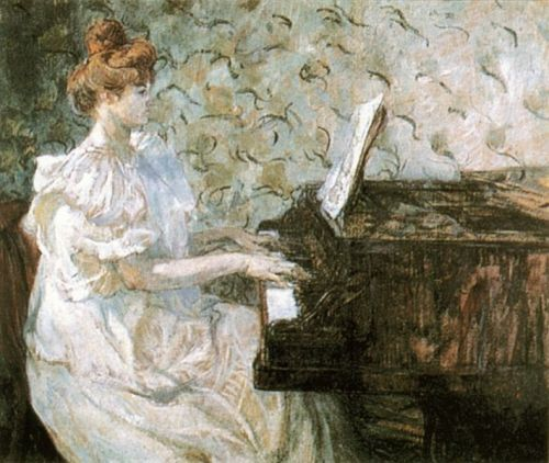 "I'm obsessed with Misia Sert. Muse, hostess, gifted pianist, painted by Toulouse-Lautrec, Renoir, friend of Verlaine, Rilke, Proust, best friends with Chanel, Diaghilev's soul mate, the list goes on and on. Clive James says in his excellent essay about her biography:   Misia was in the thick of it, stirring the magic, helping make life itself a work of art — something artists are usually too busy to do.  She also shot Morphine straight through her clothes (ummm) and first heard ""The Rite of Spring"" in her living room, no big deal. She also never bothered to open some of Proust's letters (WHAT). James also writes:   Misia survives only in the work of others. … But the personality itself has been long gone. In a way that no artist can ever quite understand but nearly all of them find irresistibly attractive, she did nothing with her capacity for beauty except live. Yet the human personality, which dies with the memory of individuals, and the work of art, which lives on in the collective consciousness, are different forms of the same thing — a truth made acutely visible by Misia's portraits, which, if they do not capture her, certainly capture uncapturability. She gave the artists the gift of her sublime ephemerality and they made it last. That true sacred monster the Comtesse Anna de Noailles wrote herself an epitaph which would have done much better for Misia: 'I shall have been useless but irreplaceable.'"