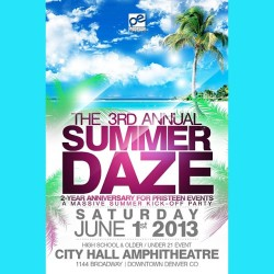 @PristeenEvents 3rd annual #SUMMEDAZE is in just 13 days!!! Invite all your friends and lets get hype for the perfect way to start summer!!!