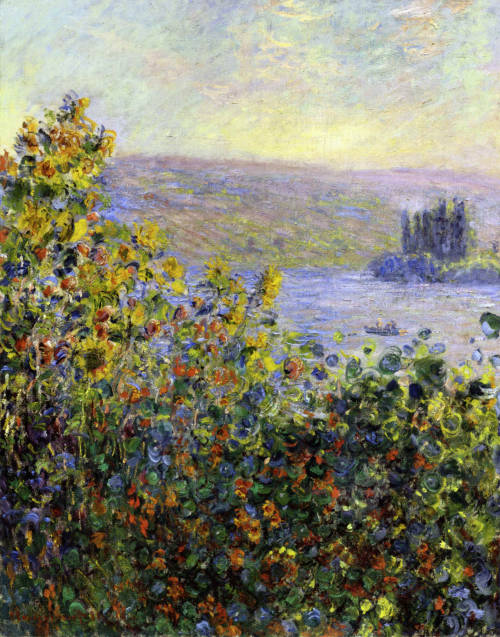 Claude Monet - Flowers Beds at Vetheuil