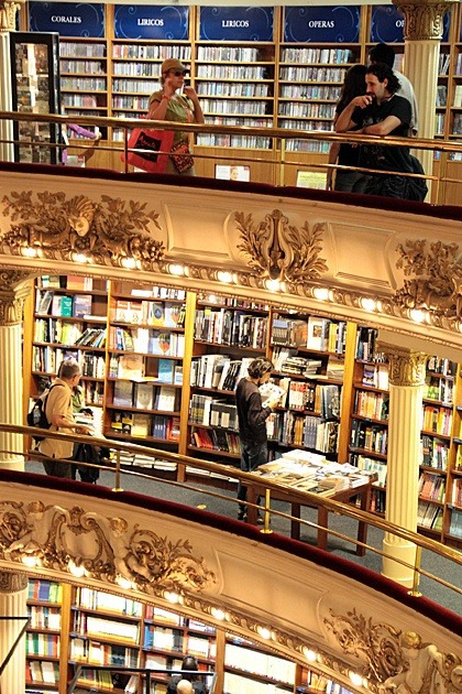 The Ateneo Grand Splendid Bookstore~Buenos Aires on We Heart It. http://weheartit.com/entry/59985559/via/TeriMarciel3