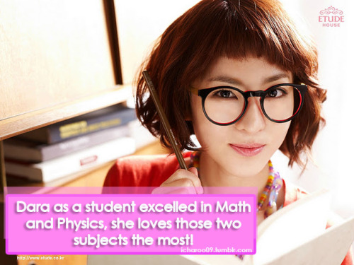"icharoo09:  #DARAFACT:""Dara as a student excelled in Math and Physics, she loves those two subjects the most!"""