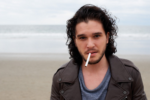 suicideblonde:  Kit Harington photographed by Terry Richardson  I love your hairy face and lovely hair.