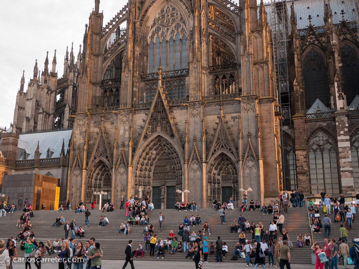 Fachada occidental de la catedral de Colonia, Alemania. Septiembre de 2010.