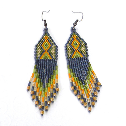 Ethnic style seed bead earringshttps://www.etsy.com/listing/150802705/ethnic-style-seed-bead-earrings