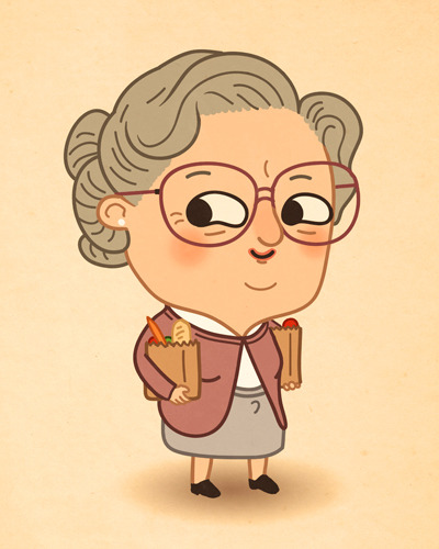 Just Like Us: Mrs. Doubtfire/Robin Williams by Mike Mitchell (SirMitchell)