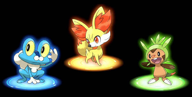 "New Pokemon in Pokemon X and Y How many Pokemon are there in Pokemon X and Y? The new game from  GameFreak features additional new Pokemon set to expand the current  roster of 649 Pokemon to around 700 or more(?). I listed below the new  Pokemon that will first appear in the 6th generation of Pokemon games.Note: This page is constantly updated for new information whenever new Pokemon are revealed for Pokemon X and Y.New Pokemon ChespinType: GrassClassification: Shelled Chestnut PokemonChespin is one of the first Pokemon introduced in the game. It is a starter Pokemon.Fennekin:Type: FireClassification: Fox PokemonChespin is also a starter Pokemon with the fire-typing.FroakieType: WaterClassification: Bubble Frog PokemonFroakie is first introduced when Pokemon X and Y are first revealed.SylveonType: not yet revealedClassification: not yet revealedSylveon  is a brand new Pokemon and another evolution of Eevee. It is still  unknown how the Pokemon evolves from Eevee as well as its type.PanchamType: FightingClassification: Naughty PokemonThis  Pokemon resembles a panda. It is first revealed in May 2013 in a  CoroCoro magazine leak. It knows a brand new move - Parting RemarkFletchlingType: Normal/FlyingClassification: Japanese Robin PokemonThis  Flying Pokemon knows the move ""Nitro Charge"". I feel that this Pokemon  will be the default flying Pokemon at the start of the game.GogoatType: GrassClassification: Ride PokemonThe player can ride on Gogoat's back in Miare city.HelioptileType: Electric / Normal Classification: Generating PokemonThis  is a Lizard Pokemon with a rare type combination. It knows the move  ""Parabola Charger"". This move can damage the opponent while at the same  time healing the user.New Pokemon FormsNew Mewtwo FormType: PsychicClassification: Not yet revealed Mewtwo has a new form in Pokemon X and Y. It is still unconfirmed if it is an evolution or another form though.Legendary Pokemon in Pokemon X and Y2 legendary Pokemon are already introduced for Pokemon X and Y. They are Xerneas and Yveltal. It is expected that the new generation of Pokemon games  will also feature more Legendary Pokemon apart from the 2 mentioned above. N-Handhelds, your Pokemon blog has a separate page for legendary Pokemon here.Keep in mind that I will be updating this post as information on new Pokemon are revealed. Stay tuned here on N-Handhelds, your Pokemon blog, for more Pokemon X and Y information. Also, please visit our Pokemon X and Y Page.Also, you can help support this site by buying Pokemon X and Y on Play-Asia!  http://bit.ly/15OzCPr"