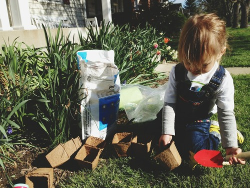 natureconservancy:  Getting started early.  Planting gardens & picking up trash in the neighborhood for Earth Day! Photo Credit: greenfemme: