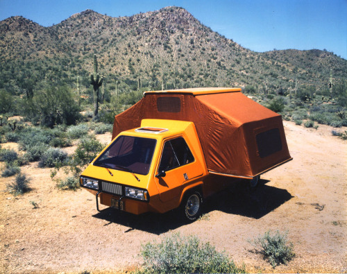 subtilitas:  Robert Q. Riley - Phoenix; a compact van that converts to a tent-style motorhome, late 1980s. You can buy the plans here.
