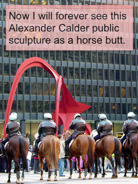 Chicago Police opposite Calder (by Paul Germanos)(Stickies comment on photo added by spudart)