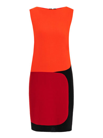 Bauman tri-colour crepe dress by Roksanda Ilincic
