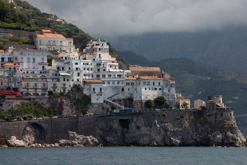 Amalfi Coast between Positano and Amalfi by jimmyharris on Flickr.