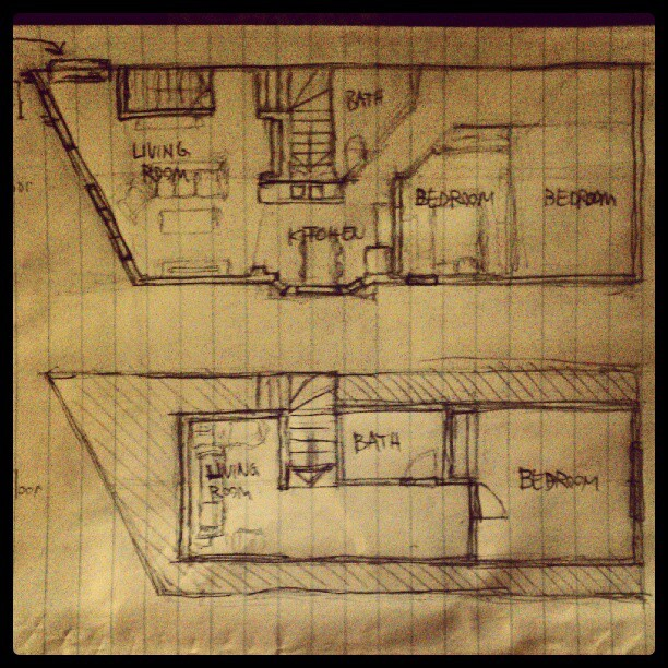 So I roughly drew the floor plan of the apartment that @smbirr, @isaacbrethauer, and I are moving into in March! It's gonna be awesome. There's a fireplace.