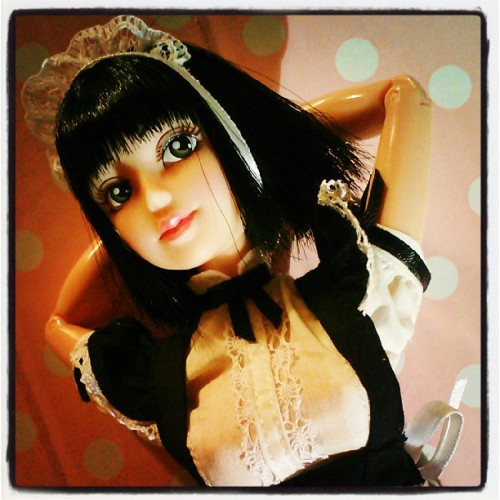 #BanDai Shamrock Air #Sakurana #doll rocks the #French Maid #dress of a close friend. #toycrewbuddies #toycrewbuddiesjp #toycrewbuddiesusa #toyplanet #toysrlikeus #toy #toys #dolls #nippon #japan #instamood #instahub #instagramhub #webstagram #cute #adorable #brunette #babe