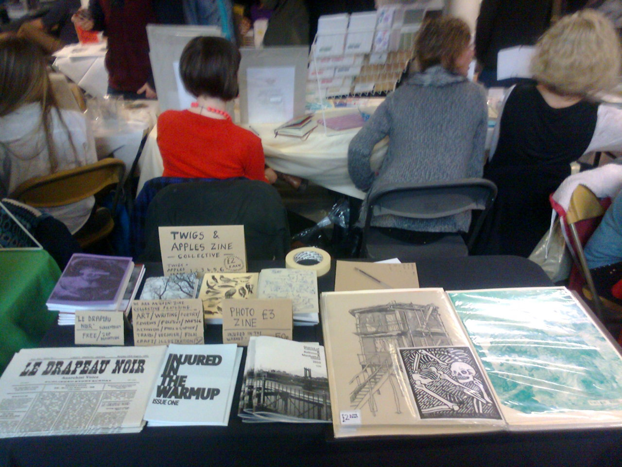 We had a stall at the Manchester Print Fair. Was a good day!