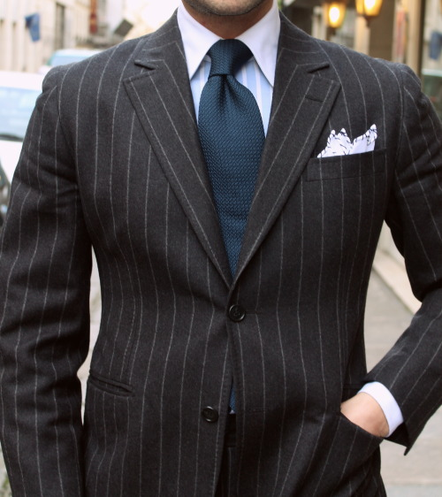 aigleroyal:  MTM Suit, Shirt & Tie by Marc Guyot.