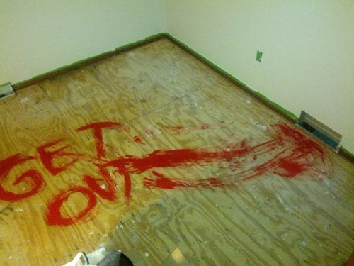 bagocky:  niknak79:  A surprise for the next people who redo the carpet.