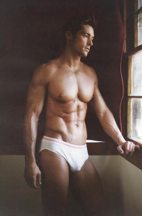 Nice bulge in that sexy white underwear.
