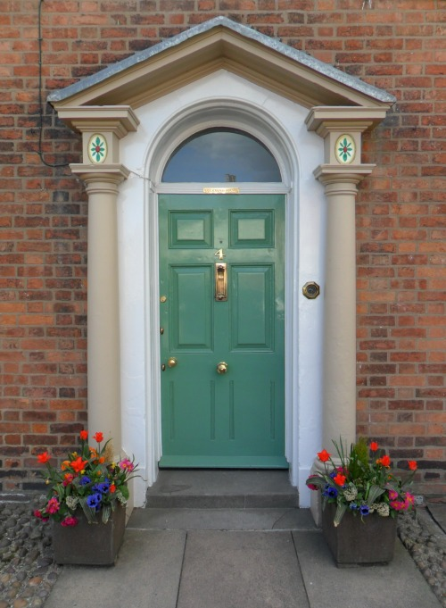 Elegant front door to Georgian town house, Market Bosworth, Leicestershire, England. All Original Photography by http://vwcampervan-aldridge.tumblr.com