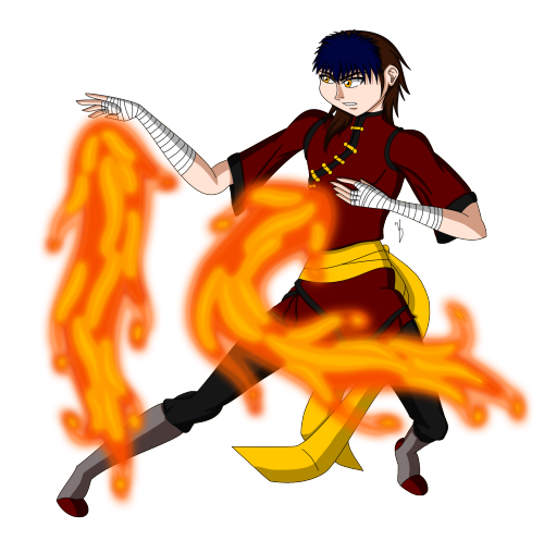 Tai Yang Long Fire Bender by CatDemonLunaria91 via anipan